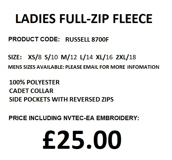 8700 ladies fleece description