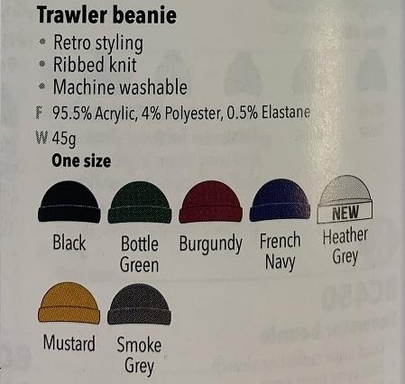 BC460 Colour Chart and description