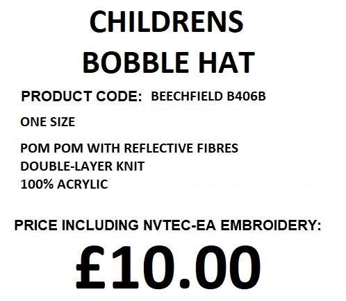 CHILDRENS BOBBLE HAT B406B DESCRIPTION