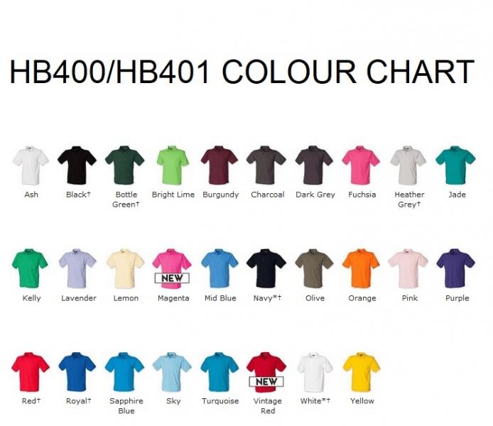 HB400 Colour Chart