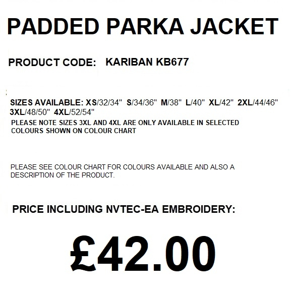 KB677 KARIBAN PARKA JACKET DESCRIPTION