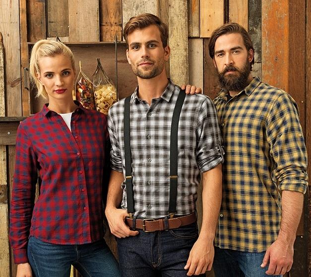 Premier Cotton Check Shirt PR250