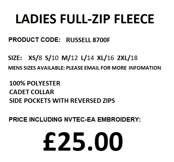 8700 ladies fleece description