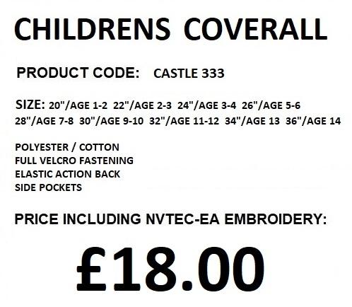 CHILDRENS COVERALL 333 DESCRIPTION