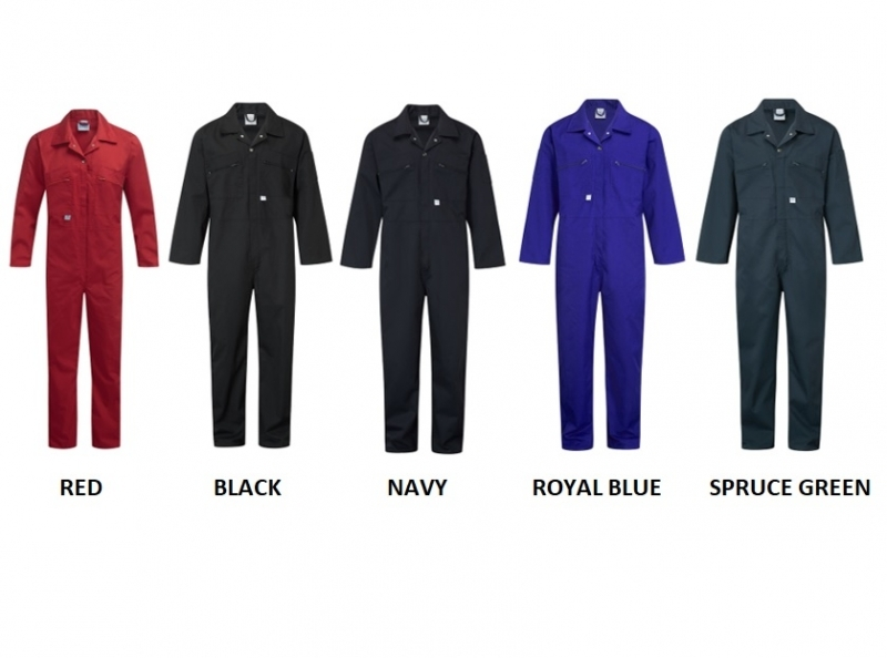 COVERALL COLOUR CHART