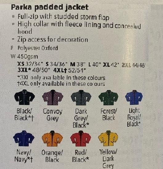 KB677 Colour Chart