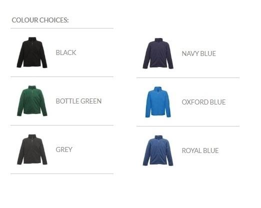 RG601 Colour Chart