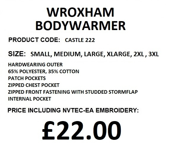 WROXHAM BODYWARMER DESCRIPTION