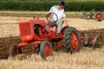 daniel-mycock-on-his-1950-allis-chalmers-b-pulling-an-oliver-2-furrow-trailing-plough